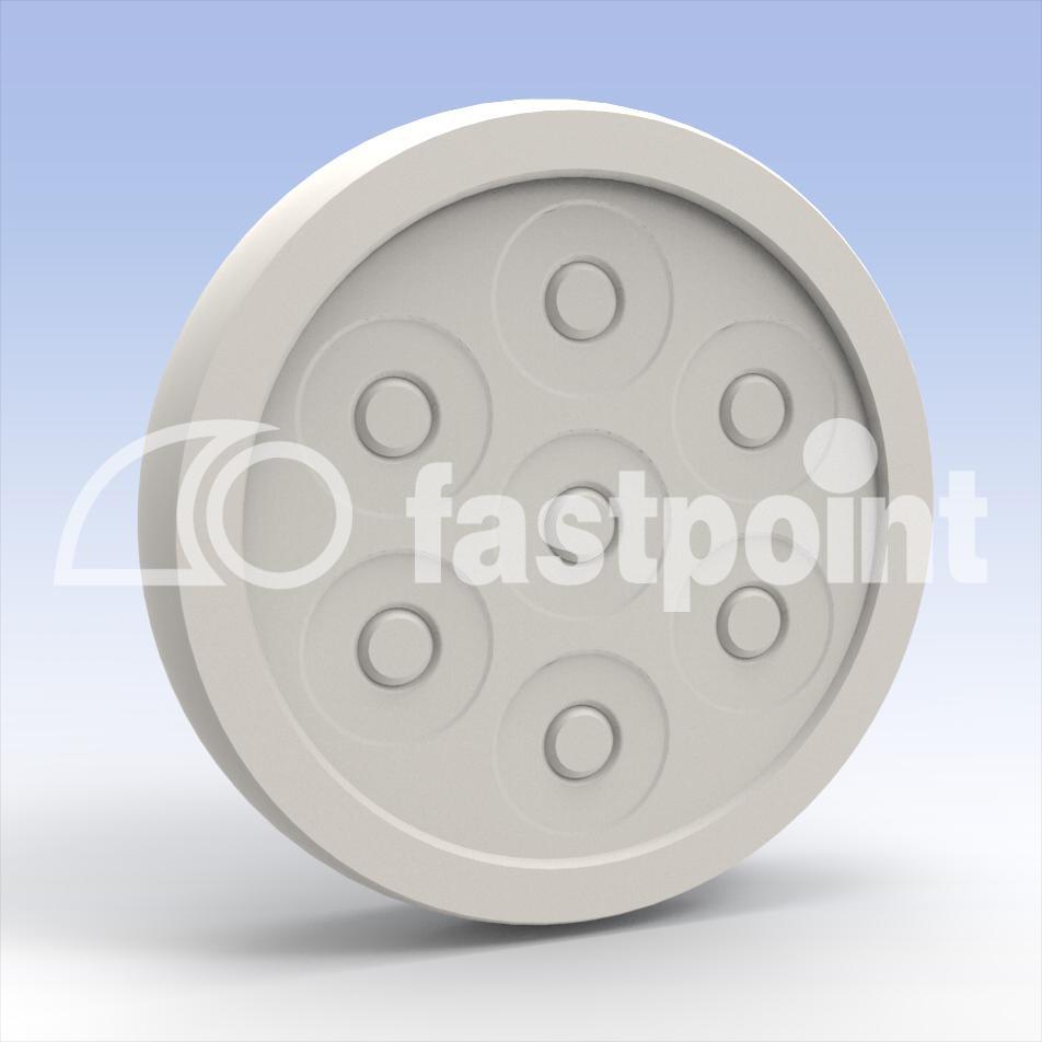 Kabeldurchführung snap-fit Multi 1x Ø21 / 1xØ15 / 4xØ10 - Fastpoint ...