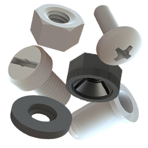 Isobuchsen - Kunststoff Muttern und Schrauben - Unterlegscheiben - Abstandsrollen