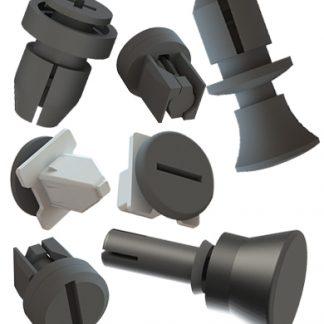 wiederlösbare Befestigungssystem Nietkomponeten Verdreh-Verschlusssysteme