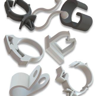 Clips y sistemas de guías para cableado