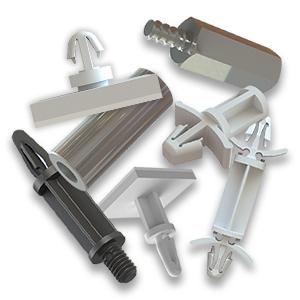 Separadores de pcb en plástico, metálico y con base adhesiva