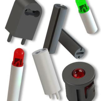 Separadores de led y guías de luz de led