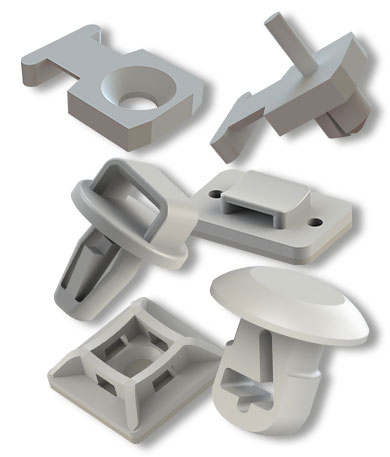 Cable Tie Mounts Self-Adhesive Cable Tie Mounts