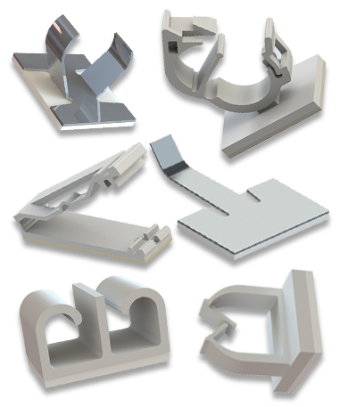 selbstklebende Kabelhalter Aluminium Befestigungshalter selbstklebende Kabelschellen