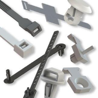 Kabelbinder - Kabelbinder mit Steckfuß - Kabelbinderzubehör - selbstklebende Kabelbindersockel