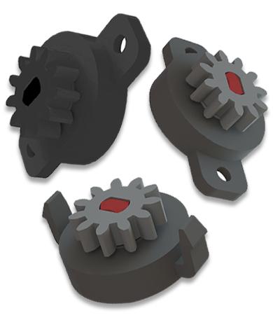 Miniatur Rotationsdämpfer - Clip Rotationsdämpfer schraubbar Rotationsdämpfer