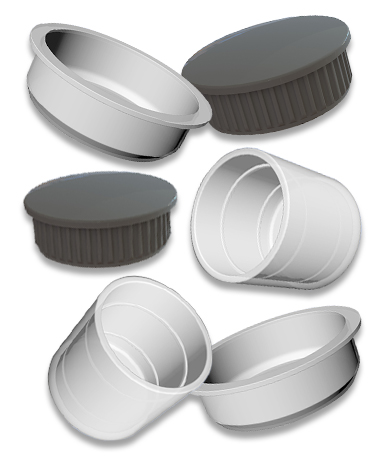 Round Tube End Caps