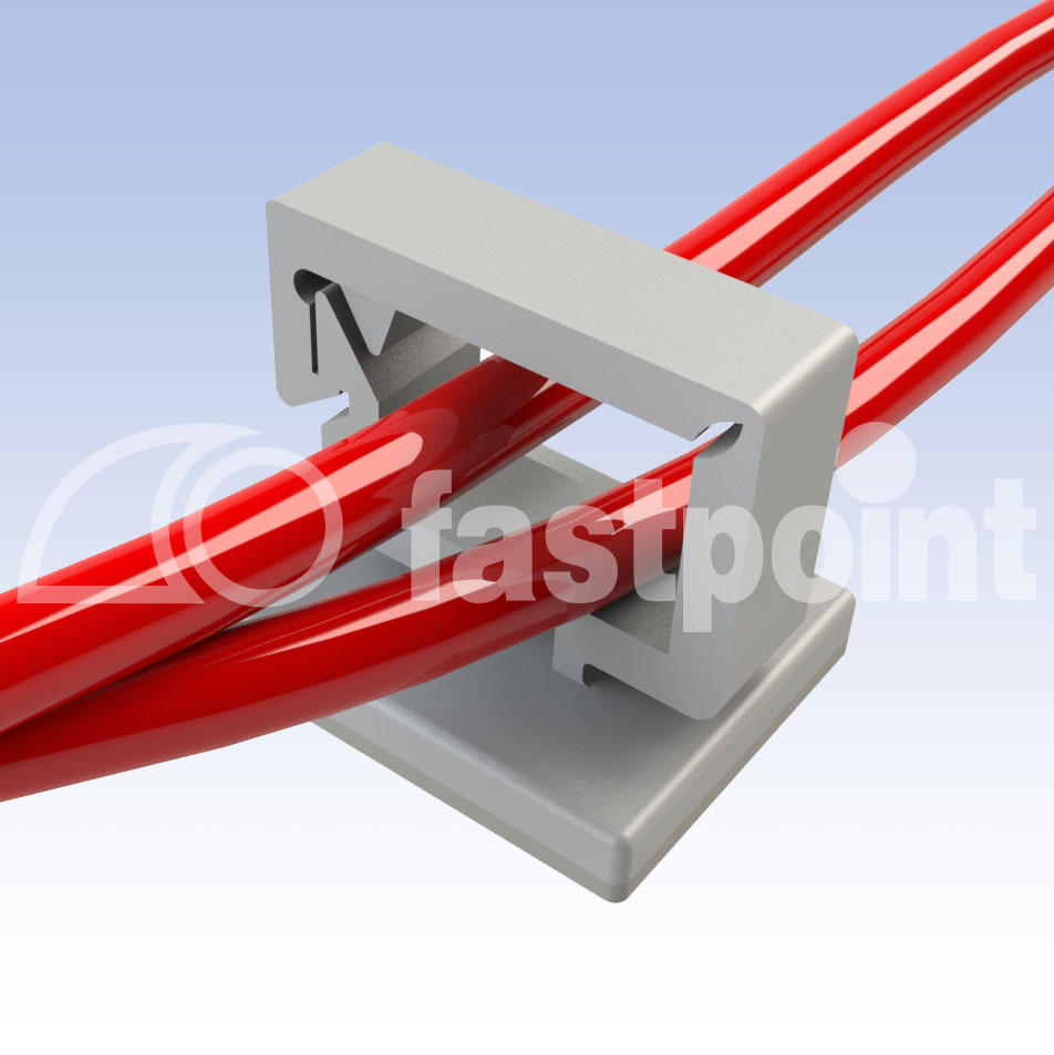 Self-adhesive wire clips with closure - Fastpoint - | Fastpoint